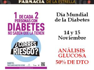 50% de descuento en el análisis de glucosa en la Farmacia de la Estrella